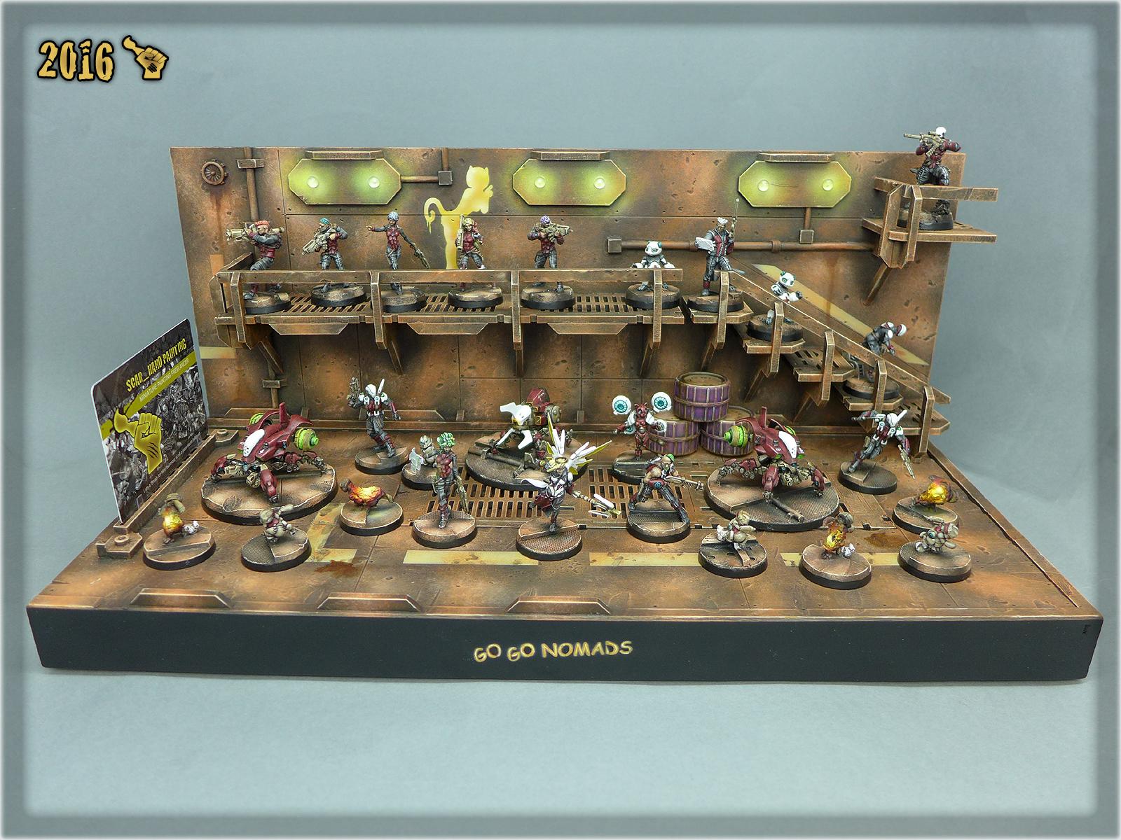 Corregidor GO GO NOMADS Force on a Diorama Display