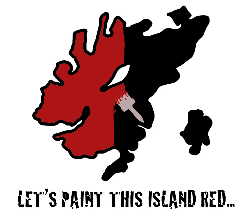 paint this island red
