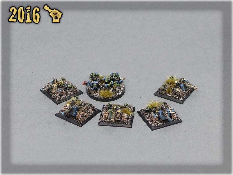 Ork Clans Deathskullz Hotsplat battery & Mob