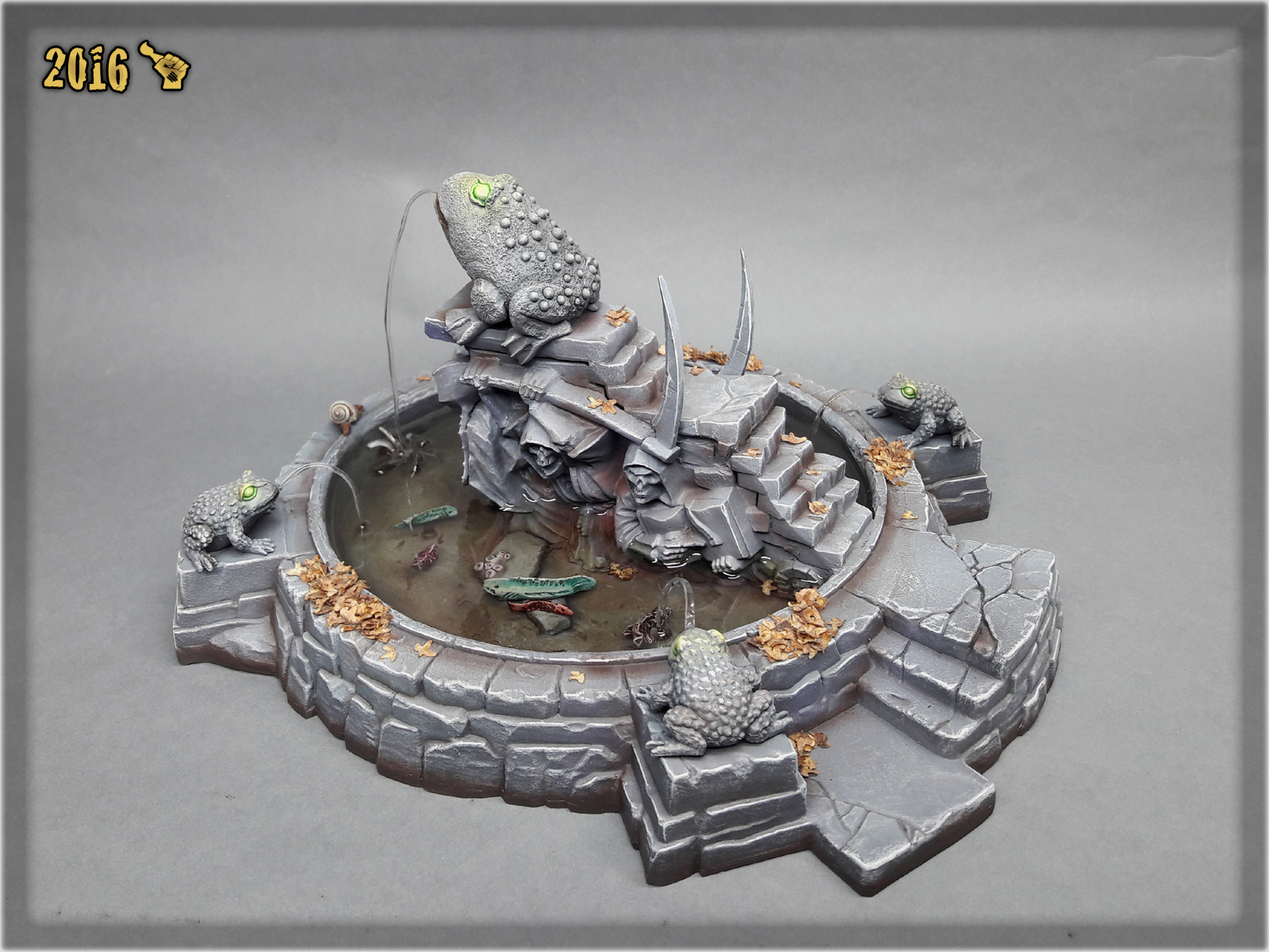 scarhandpainting-mordheim-gaming-table-frog-fountain-2